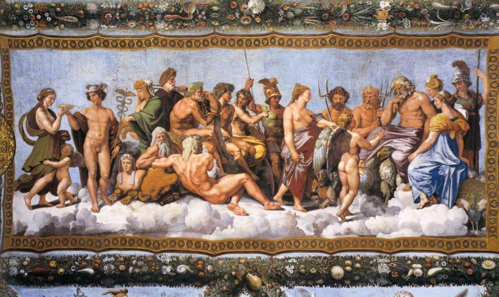 Rafael: Vijeće bogova, 1517-1518 (Villa Farnesina, Rim). Izvor: Web Gallery of Art
