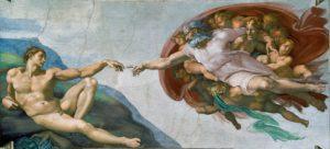 Michelangelo, Stvaranje Adama, 1508-1512. Izvor: Wikimedia Commons