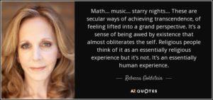Goldstein o sekularnim načinima postizanja transcendencije...